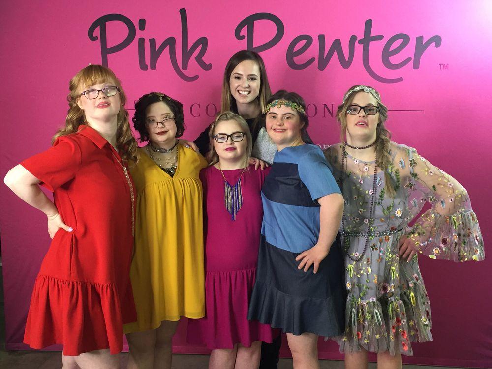 Associate Editor Mary Kaleta poses with the Fabulous Five.