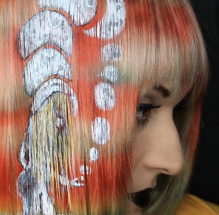 """Romano calls this one """"Many Moons."""" """"Painting on hair is so therapeutic,"""" she says."""