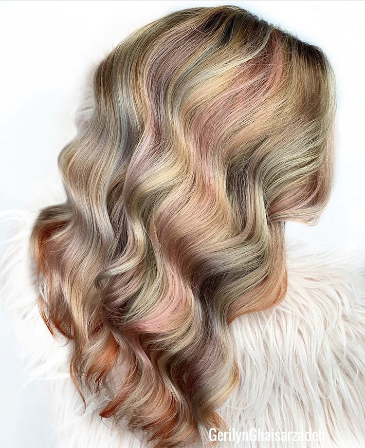 Goldwell explains that the Pure Pigments don't mix together — they sit next to each other on the hair so that each dye reflects its own color.