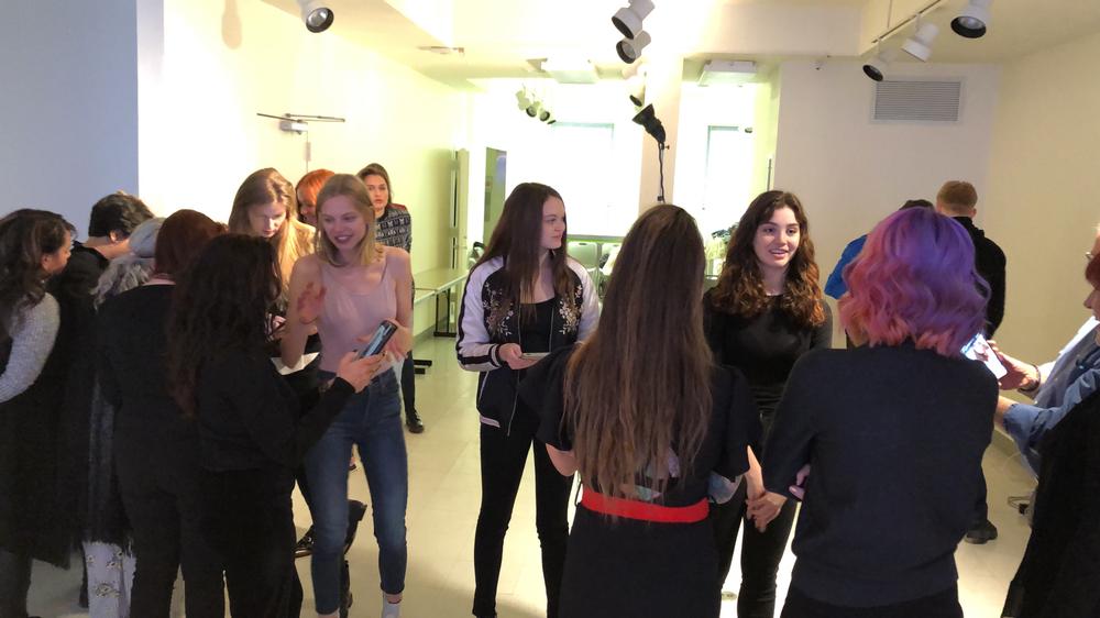 More than 80 models showed up for the Spring 2018 ARTIST SESSION casting.