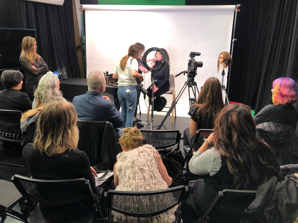 Attendees spent a half day at the Youtube space to learn more about capturing video content for their social media platforms.