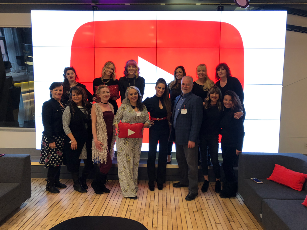 The ARTIST SESSION Spring 2018 attendees take a break at Youtube.