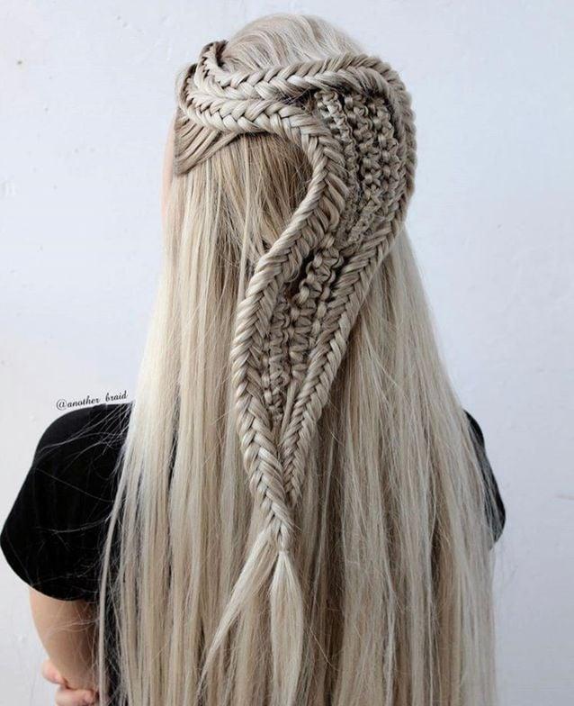 Fishtail braids and macrame braids