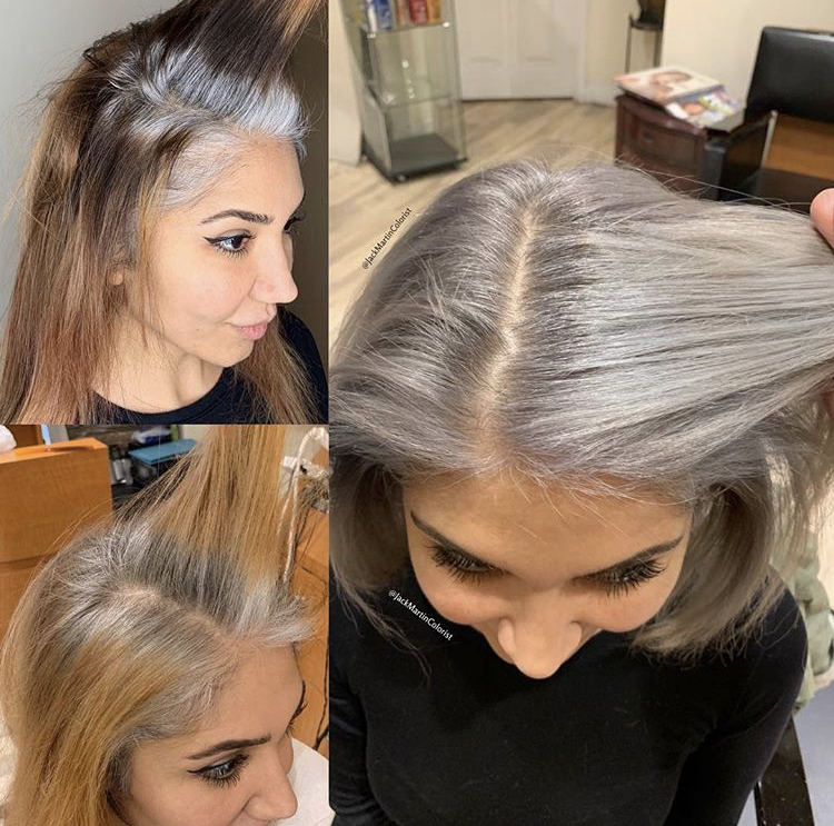 """Total service time: 11 hours. See<a href=""""https://www.instagram.com/p/BuE6tlEg556/"""" target=""""_blank"""" rel=""""noopener""""><strong> the full transformation and formula on @jackmartincolorist.</strong></a>"""