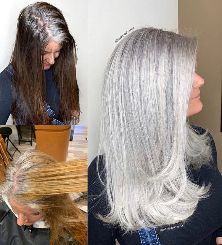 10 Times Jack Martin Helped His Clients Go Gray Color