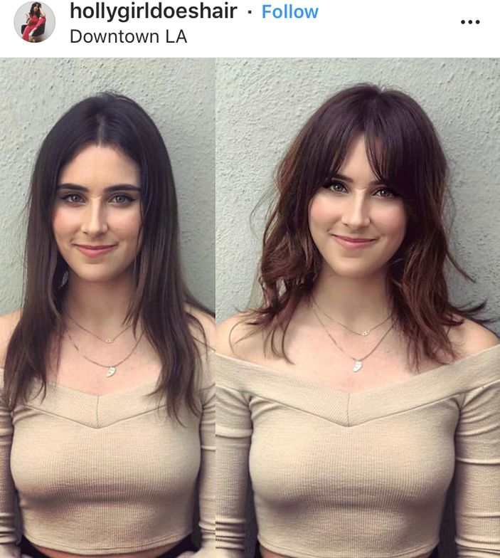 @hollygirldoeshair's before and after showcases how a quick snip can transform a client.