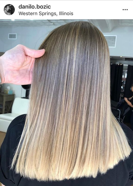 """Bozic has clients constantly bring in #AirTouch inspiration photos from Instagram asking for the technique. """"Clients love AirTouch because of its perfect blend and, as they like to point out, it's not nearly as uncomfortable as balayage can sometimes be because it requires zero teasing."""""""