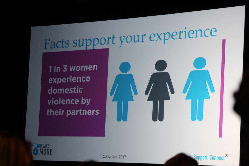 1 in 3 women experience domestic violence by their partners.