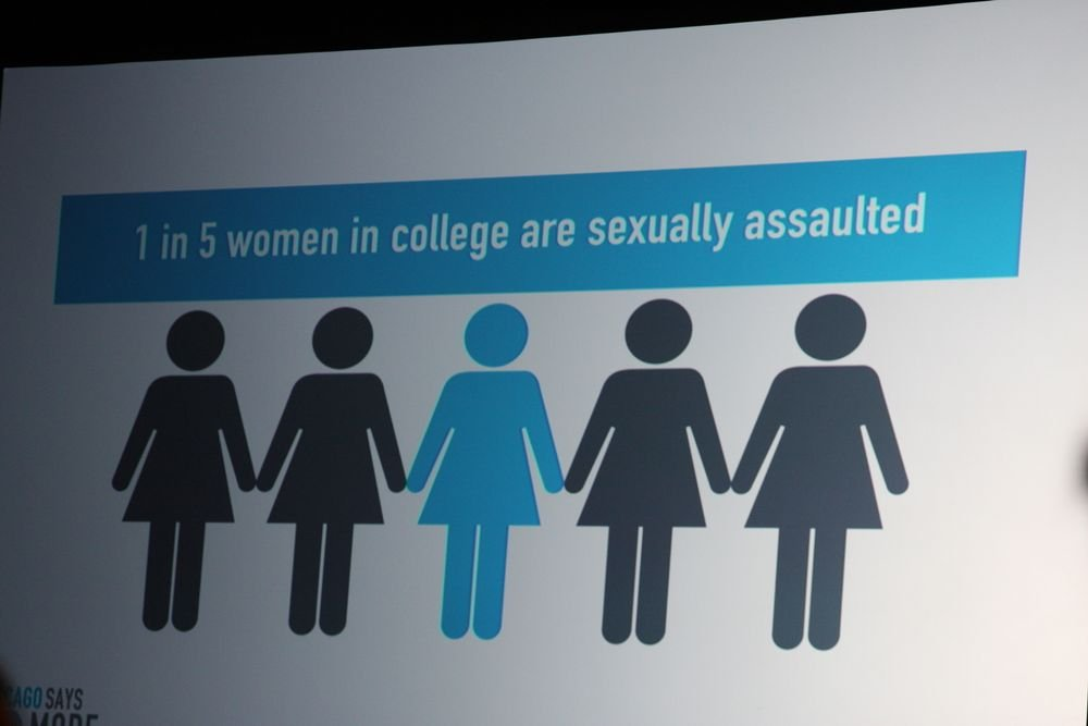 1 in 5 women in college are sexually assaulted.