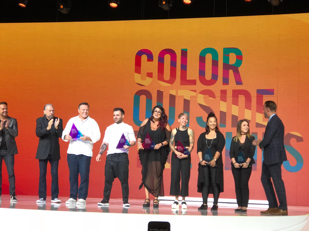 <p><em>The winners of Color Outside the Lines onstage</em></p>