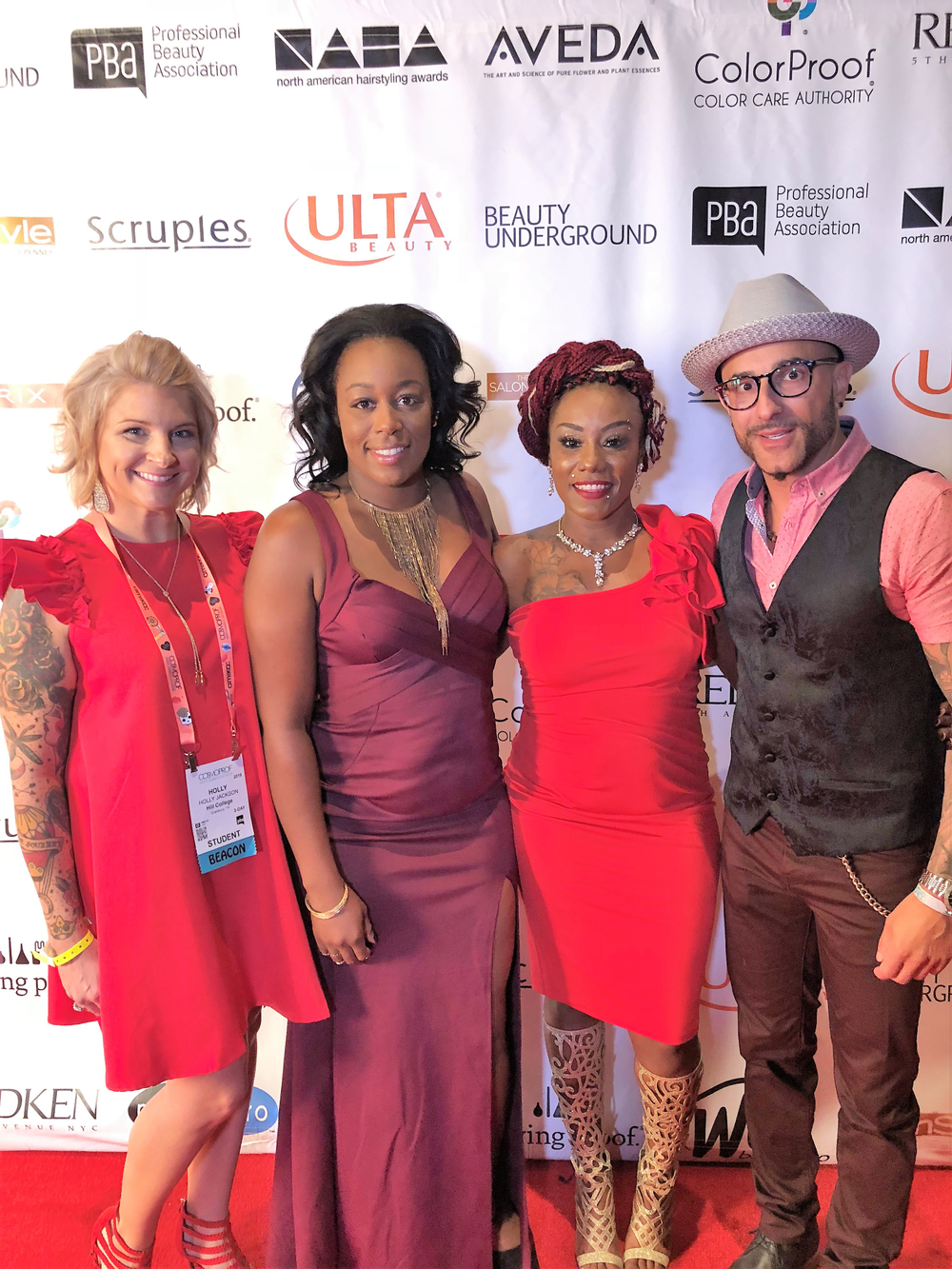 Holly Jackson, Natasha Rogers, Shakira White,and Rocky Vitelli at NAHA