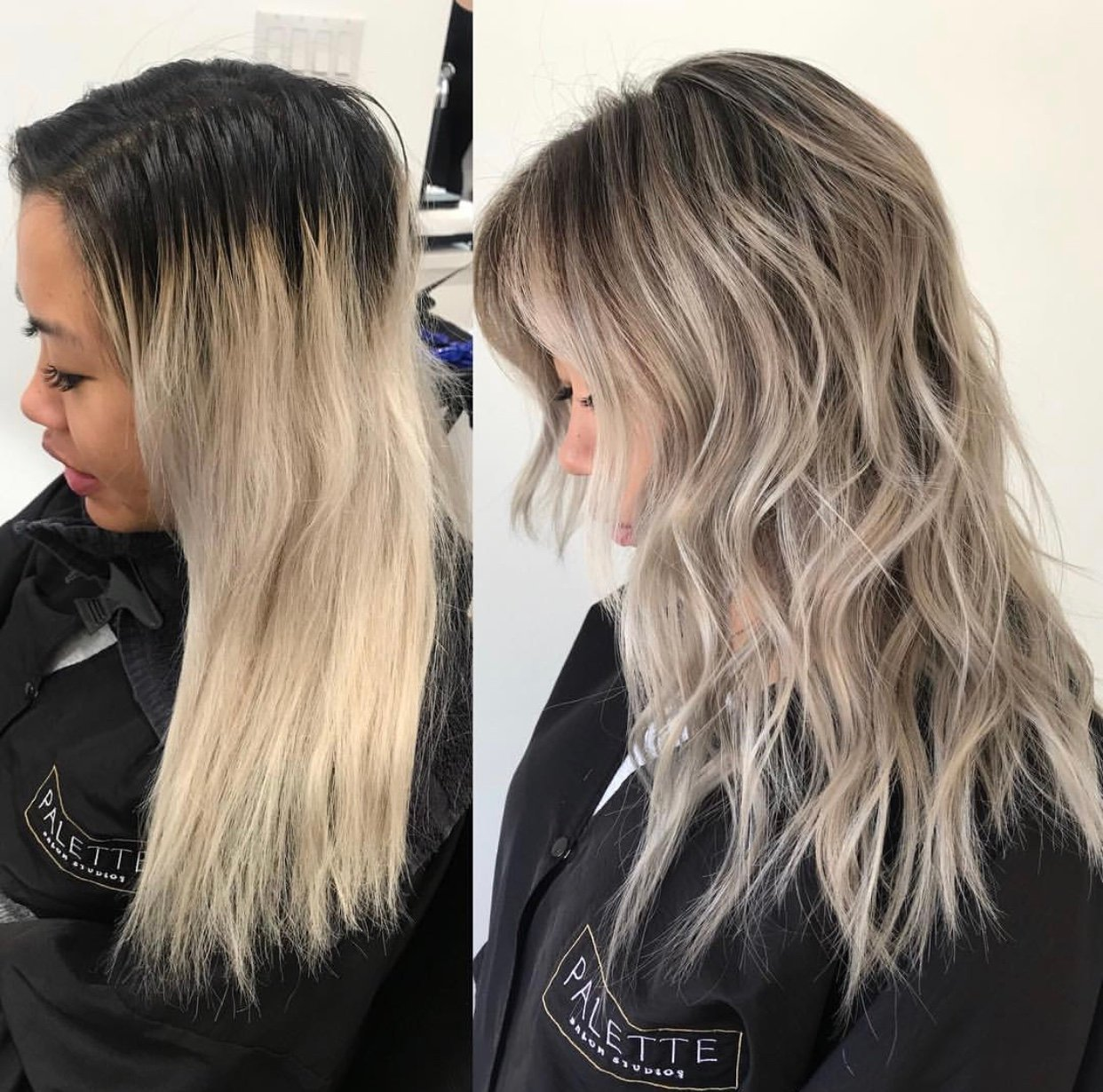 HAIR COLOR FORMULA: Transitioning Rooty Blonde to More Natural, Beigy-Blonde