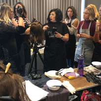 Lisa Walker, @lisalovesbalayage, teaches her techniques to students during her Balayage Bootcamp...