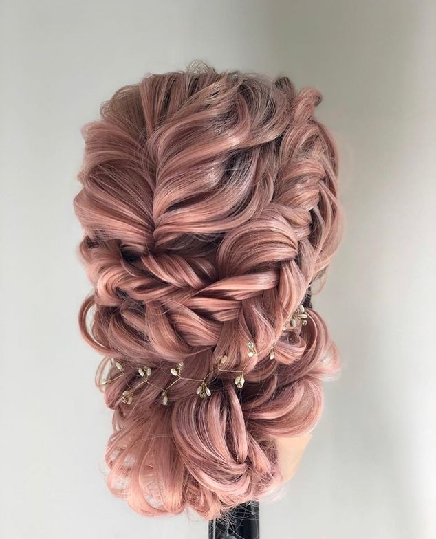 Braids, tucks, bling and blush.