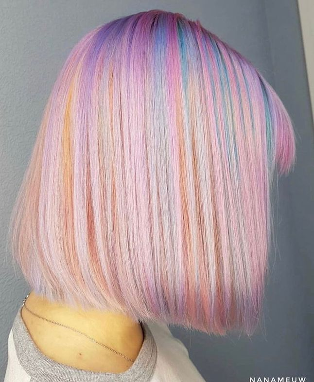 Russian hair artist @nanameuw used Turquoise, Rose Gold and Lilac over pre-lightened hair.