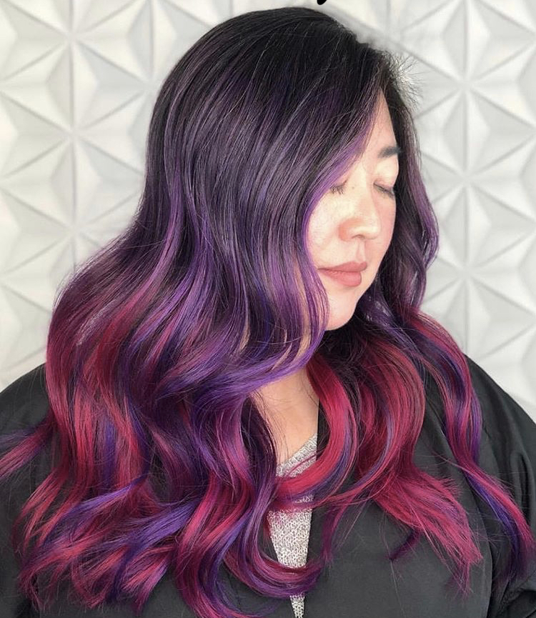 Beautiful Viral blend of Extreme Purple and Hot Pink by Seattle's @hellocindeee.