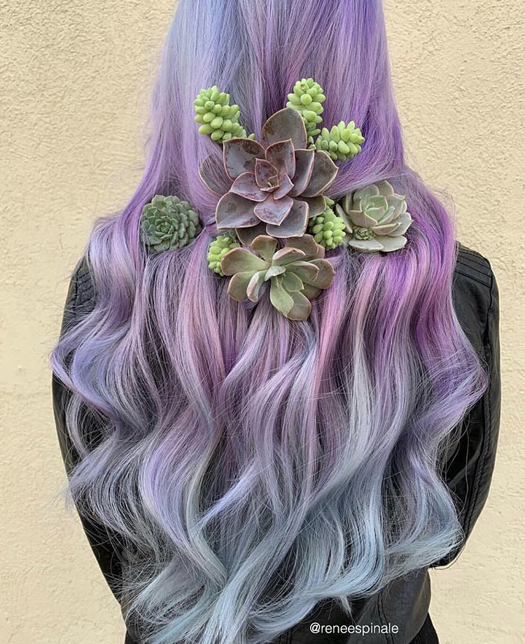 Can't get enough of this by @reneespinale using Celeb Luxury's Viral Colorditioner + Bondfix in colors Lilac and Silver.