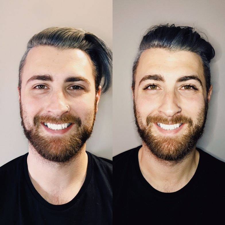 Before and after NovaLash Extensons