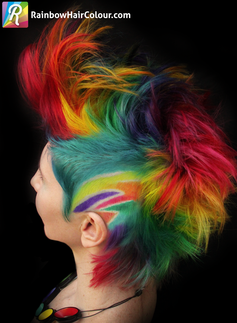 HOW-TO: Double Rainbow Mohawk Cut and Color