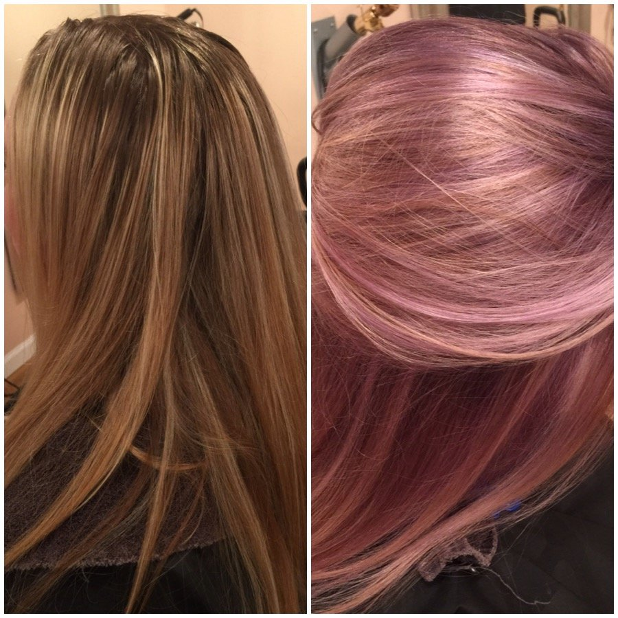 TRANSFORMATION: Pretty Blonde To Purple, Blush and Gold