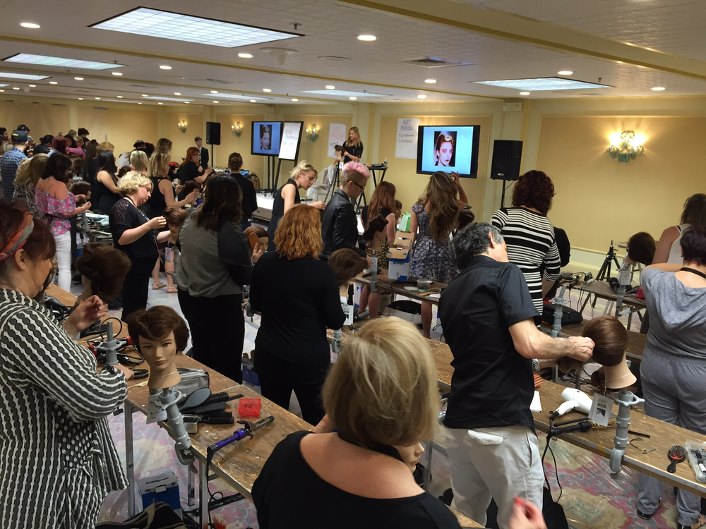 Jason Backe and team held a color workshop during the Intercoiffure Spring Atelier