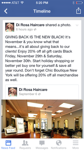 Try a Black Friday Gift Card at Your Salon