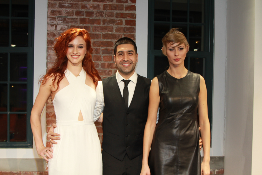 Jay Mahmood with models.