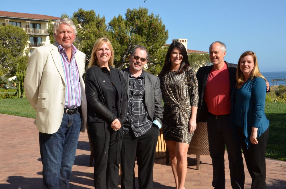 Larry Walt of Design 1 Salons and Spas; Susan Haise of Neroli; Frank Zona of Zona Salons; Susan Dykstra of Van Michael Salons and Spas; Tom Kuhn, founder of Qnity; and Stacey Soble, editor in chief of SALON TODAY.
