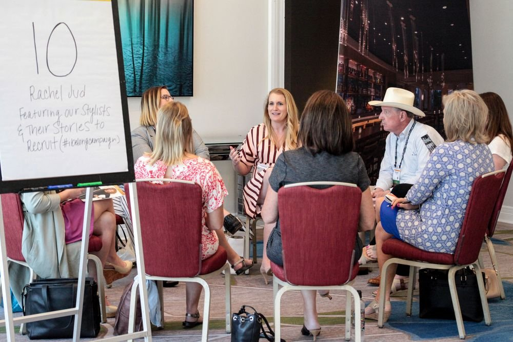 JCPenney's Rachel Jud leads a Mastermind session.