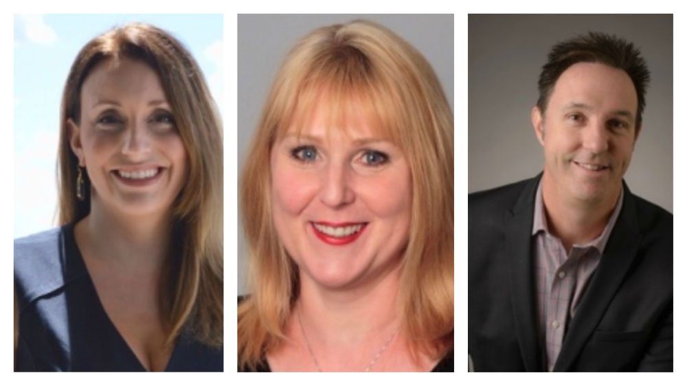 ISPA's newest board members: Laura Parsons, complex director of ZaSpa at Hotel ZaZa; Kristine Huffman, president of Peak Performance Practice; and Eric Stephenson, education director of Well World Group.