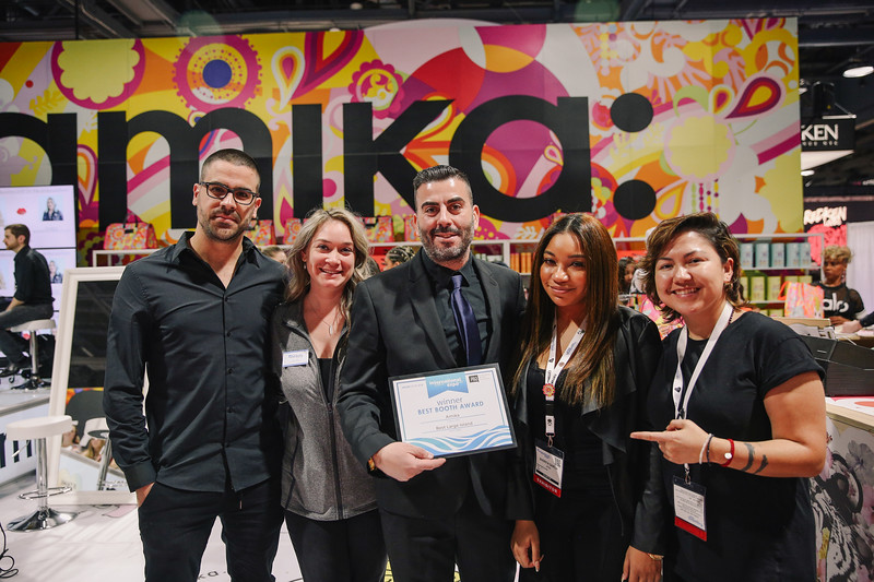 Amika was recognized for their booth design.