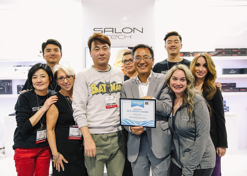 SalonTech was recognized for their booth design.
