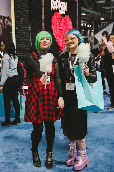 Redken offered cotton candy for all comers.