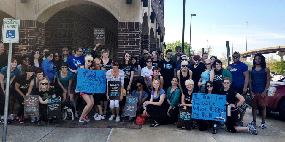 Ihloff Salon and Day Spa (located in Tulsa, Oklahoma) Team Walk for Water 2012.