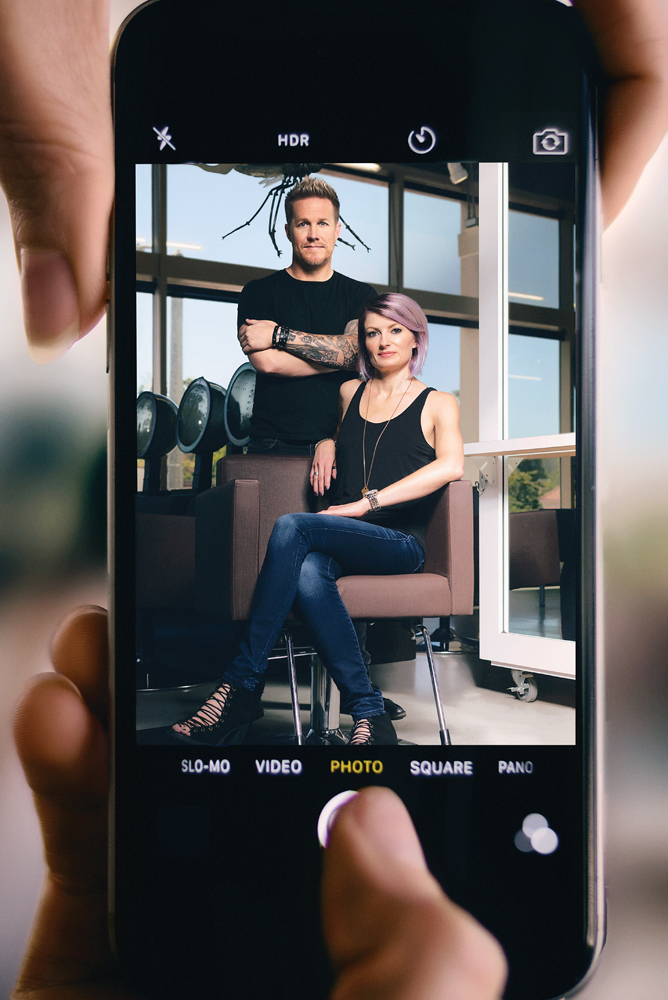 Through Instagram, David and Alexis Thurston have grown their Butterfly Loft Salons into a national brand. Now, they are sharing social media tips with others. Photo by Matt Mackey III. Makeup by Allison Brooke.