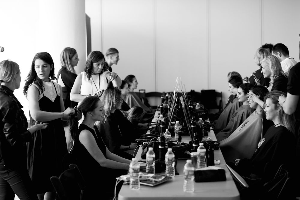 Hands-on at the Oribe Hair Care Educate the Educators training.