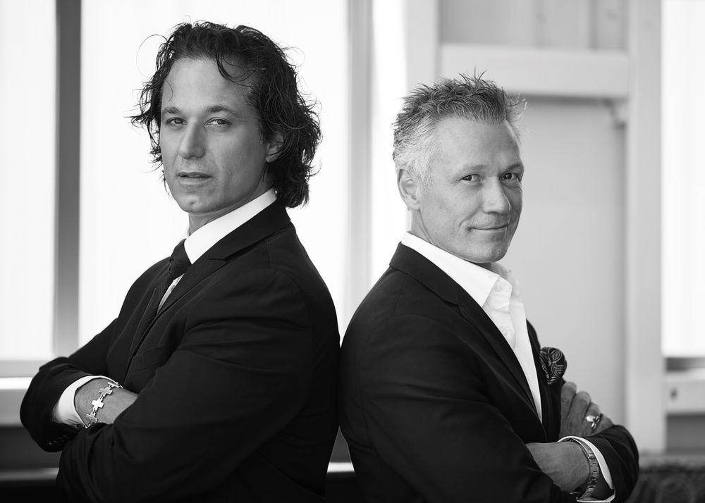 Emilio Cornacchione and Gino Chiodo, owners of Izzazu Salon Spa & Serata in Pittsburgh, PA.