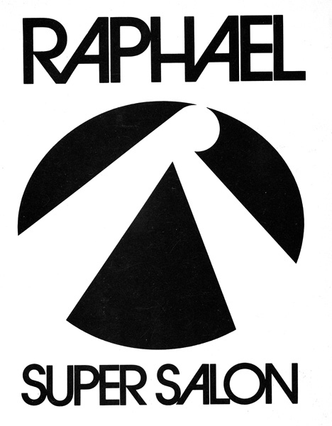 <p>Raphael Super Salon logo. It was in brown and was used not just for press purposes; it was on bags, fashions, everything.</p>