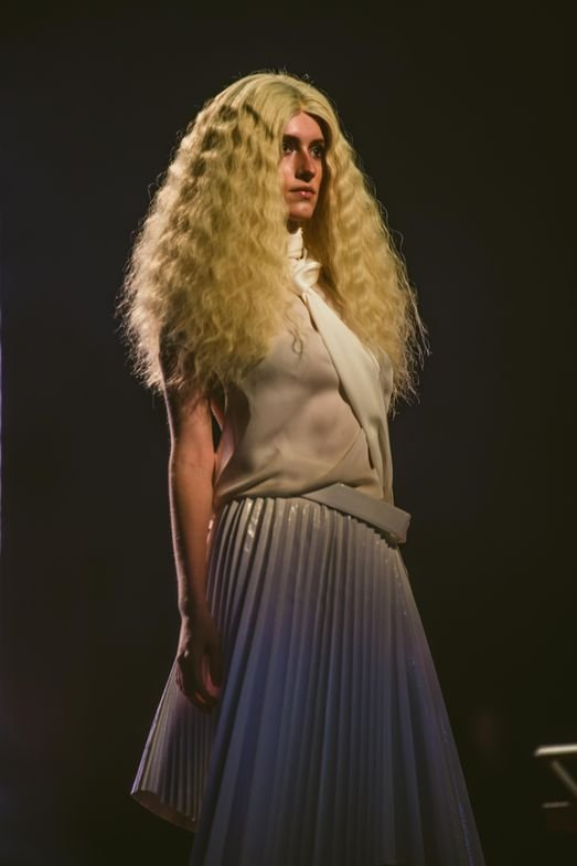 A finished look from ORIBE presentation