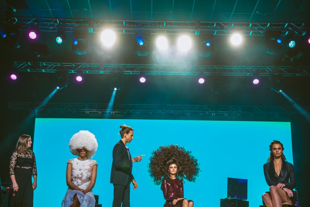 James Pecis on stage during the ORIBE presentation during LBP Front Row