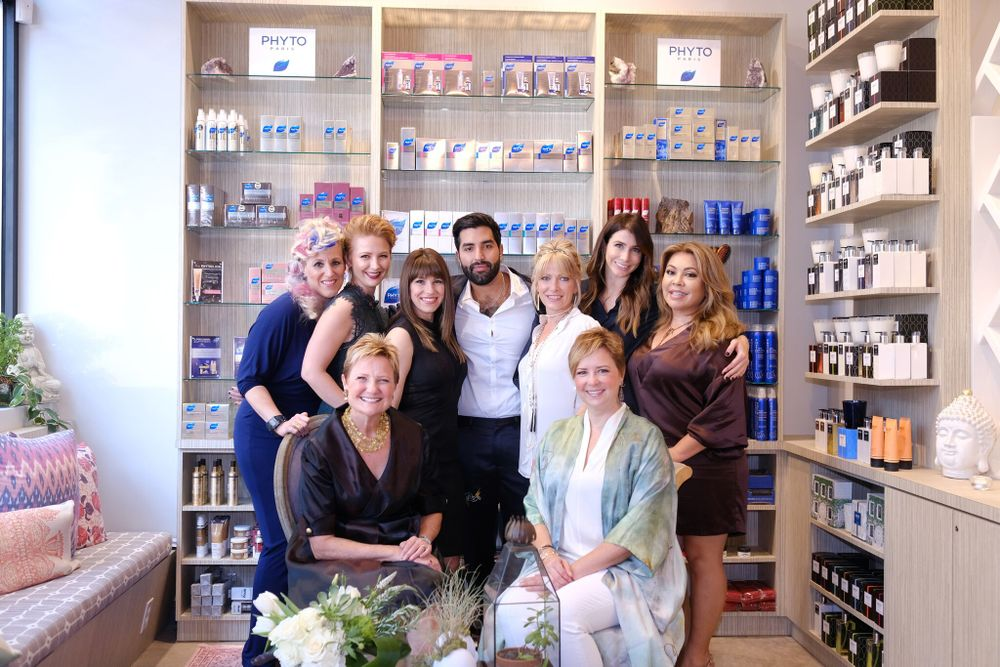 Janet St. Paul and her salon team