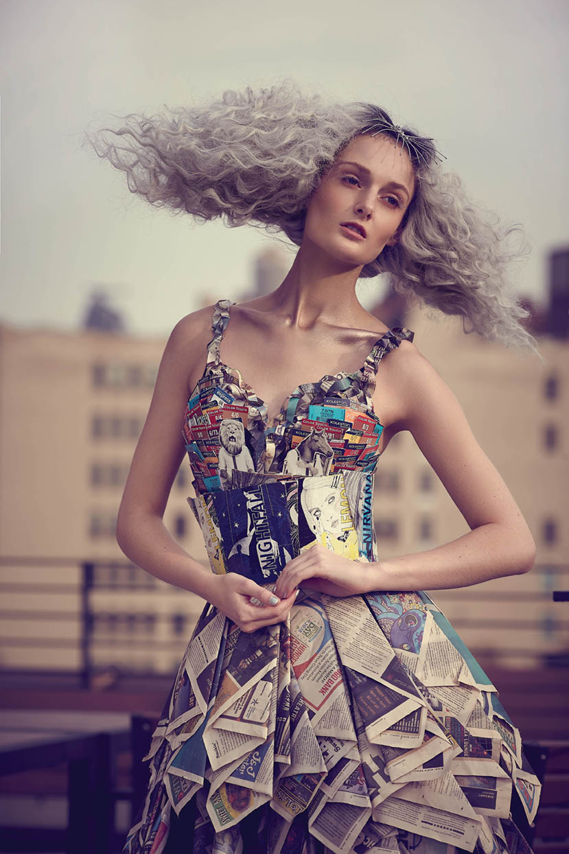 <strong>FUTURE RECYCLING:</strong> Hair by Judy Perrotti and Meagan Ortiz