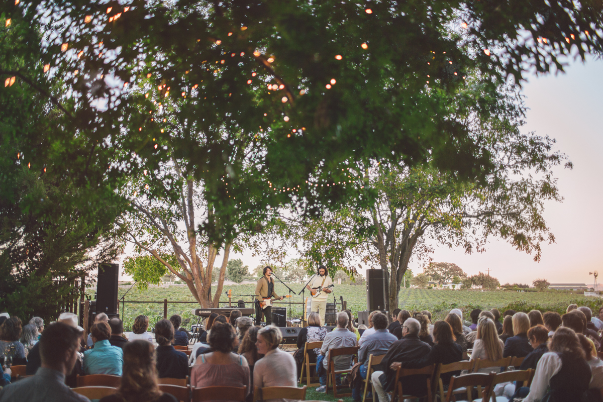In Paso Robles, California, Salon Roux partners with Castro Cellars to bring A.J. Croce and The Janks to perform on the Central Coast with proceeds to benefit Studios on the Park.
