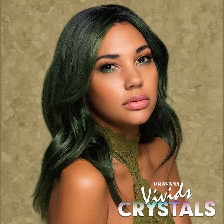 JADE: Healing crystal known for protection, fortune and self-discovery.Starting level 10 (highlights) and 8 (lowlights). Rooted with ChromaSilk 4N.