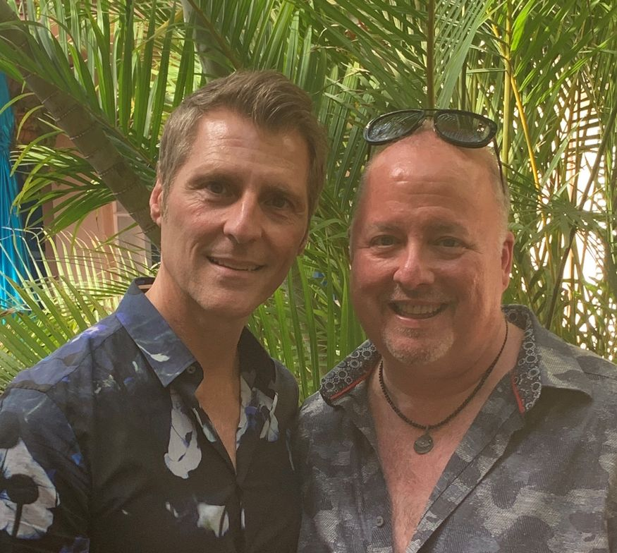 <p>James Amato and Terry McKee, owners of Nuovo Salon Group.</p>