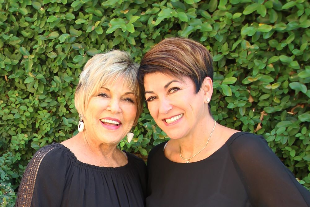 <p>Pam McNair-Wingate and her virtual twin, daughter Jana Westerbeke.</p>