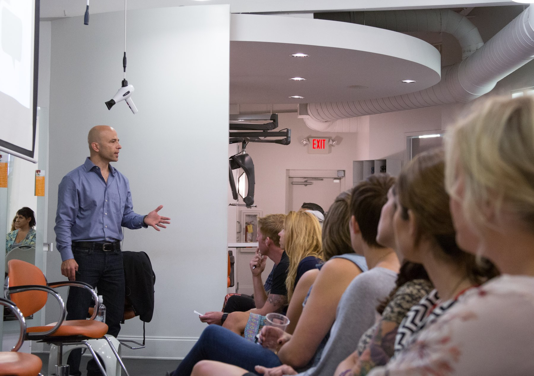In a Psy-Cosmetology training session, Jay Williams shows stylists and owners how to build client relationships based on both character and competence.