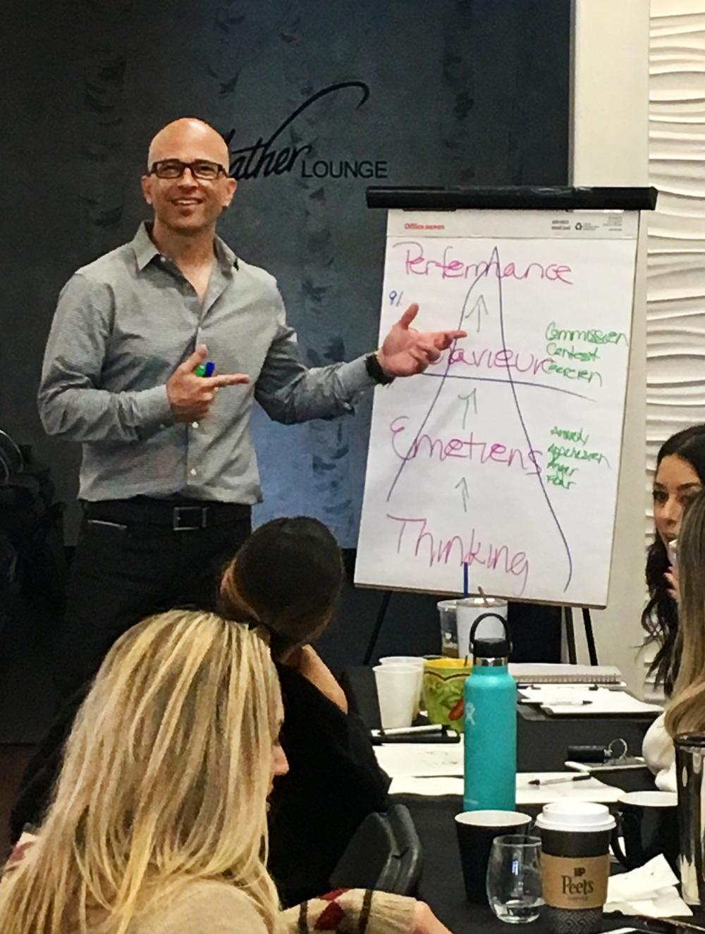 Williams teaches a class at Headlines The Salon.
