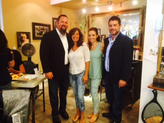STX's Jeff Mason and Matt Jantomaso (right) with Caryann Concilio and Amanda Intoccia, owners of Bamboo Salon in Staten Island, New York, during STX's  5 Principles of Success class.