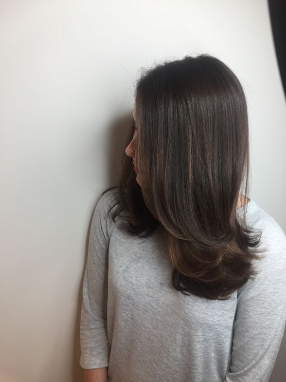 """<p>MOCHA: """"This is a natural level 5. For this look I used Majirel 4N and 4.8 with Majicrème Developer<a href=""""http://www.saloncentric.com/670281011028.html"""" target=""""_blank"""" rel=""""noopener noreferrer""""><strong>20-Volume</strong></a>. The end result completely spiced up her look for Fall and gave her Ivory skin tone a pop! It's just beautiful- I am obsessed with everything Mocha right now.""""</p>"""